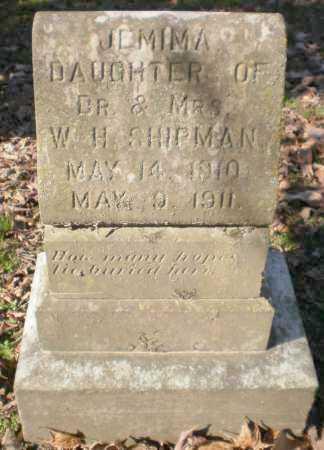 SHIPMAN, JEMIMA - Ashley County, Arkansas | JEMIMA SHIPMAN - Arkansas Gravestone Photos