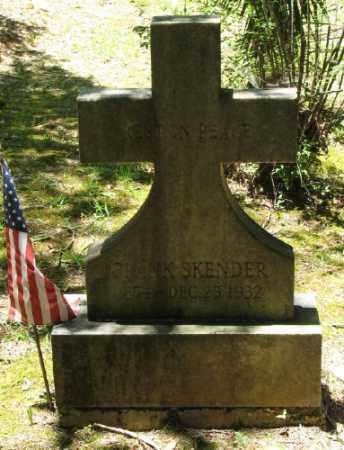 SKENDER, FRANK - Ashley County, Arkansas | FRANK SKENDER - Arkansas Gravestone Photos