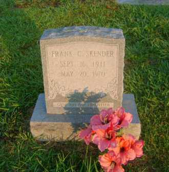 SKENDER, FRANK C - Ashley County, Arkansas | FRANK C SKENDER - Arkansas Gravestone Photos