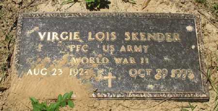 SKENDER (VETERAN WWII), VIRGIE LOIS - Ashley County, Arkansas   VIRGIE LOIS SKENDER (VETERAN WWII) - Arkansas Gravestone Photos