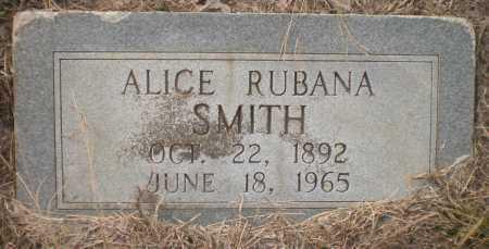 SMITH, ALICE RUBANA - Ashley County, Arkansas | ALICE RUBANA SMITH - Arkansas Gravestone Photos
