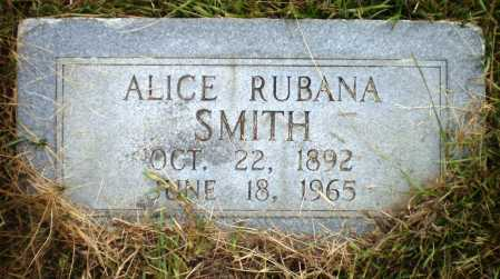 SMITH, ALICE RUBANA - Ashley County, Arkansas   ALICE RUBANA SMITH - Arkansas Gravestone Photos
