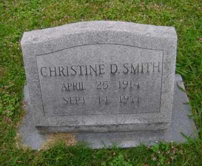SMITH, CHRISTINE D - Ashley County, Arkansas   CHRISTINE D SMITH - Arkansas Gravestone Photos