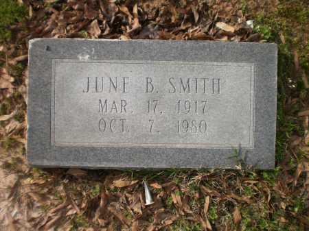 SMITH, JUNE B - Ashley County, Arkansas   JUNE B SMITH - Arkansas Gravestone Photos
