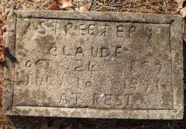 STREETER, CLAUDE - Ashley County, Arkansas | CLAUDE STREETER - Arkansas Gravestone Photos