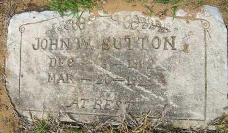 SUTTON, JOHN W - Ashley County, Arkansas | JOHN W SUTTON - Arkansas Gravestone Photos