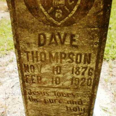 THOMPSON, DAVE (CLOSE UP) - Ashley County, Arkansas | DAVE (CLOSE UP) THOMPSON - Arkansas Gravestone Photos