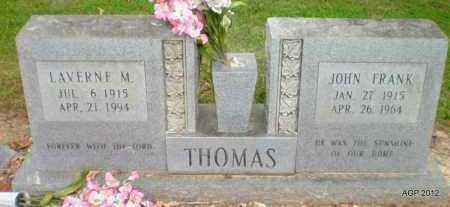 THOMAS, LAVERNE M - Ashley County, Arkansas | LAVERNE M THOMAS - Arkansas Gravestone Photos
