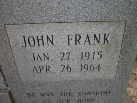 THOMAS, JOHN FRANK (CLOSE UP) - Ashley County, Arkansas | JOHN FRANK (CLOSE UP) THOMAS - Arkansas Gravestone Photos