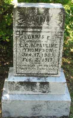 THOMPSON, DARIS E. - Ashley County, Arkansas   DARIS E. THOMPSON - Arkansas Gravestone Photos