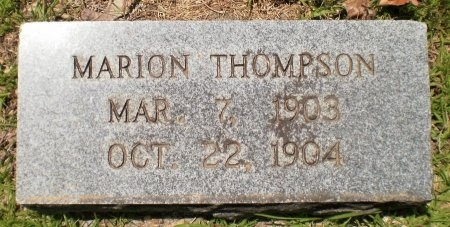 THOMPSON, MARION - Ashley County, Arkansas   MARION THOMPSON - Arkansas Gravestone Photos
