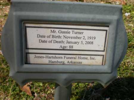 TURNER, GUSSIE - Ashley County, Arkansas   GUSSIE TURNER - Arkansas Gravestone Photos