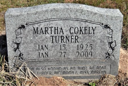 TURNER, MARTHA - Ashley County, Arkansas | MARTHA TURNER - Arkansas Gravestone Photos