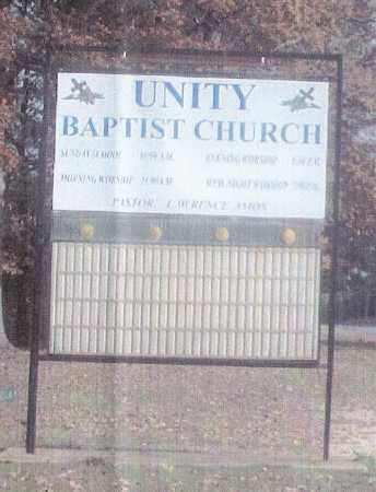 *UNITY BAPTIST CHURCH SIGN,  - Ashley County, Arkansas |  *UNITY BAPTIST CHURCH SIGN - Arkansas Gravestone Photos