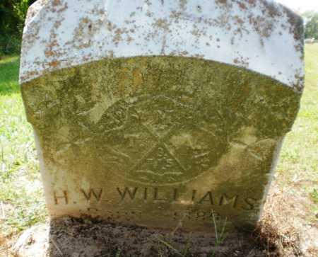 WILLIAMS, H W - Ashley County, Arkansas   H W WILLIAMS - Arkansas Gravestone Photos