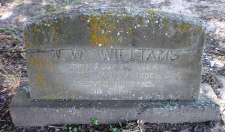 WILLIAMS, WILL W - Ashley County, Arkansas | WILL W WILLIAMS - Arkansas Gravestone Photos