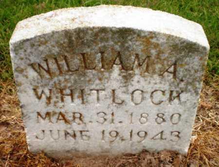 WHITLOCK, WILLIAM A - Ashley County, Arkansas | WILLIAM A WHITLOCK - Arkansas Gravestone Photos