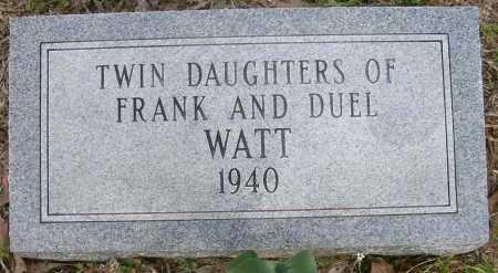 WATT, TWIN DAUGHTERS - Ashley County, Arkansas   TWIN DAUGHTERS WATT - Arkansas Gravestone Photos