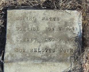 WATTS, MURIEL - Ashley County, Arkansas | MURIEL WATTS - Arkansas Gravestone Photos
