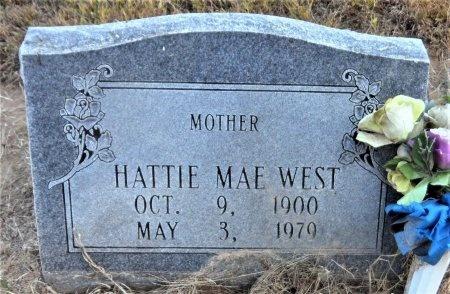 WEST, HATTIE MAE - Ashley County, Arkansas | HATTIE MAE WEST - Arkansas Gravestone Photos
