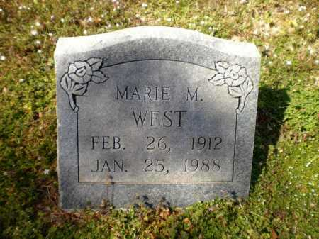 WEST, MARIE M - Ashley County, Arkansas   MARIE M WEST - Arkansas Gravestone Photos