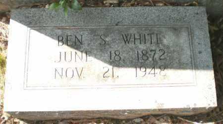WHITE, BEN S - Ashley County, Arkansas | BEN S WHITE - Arkansas Gravestone Photos