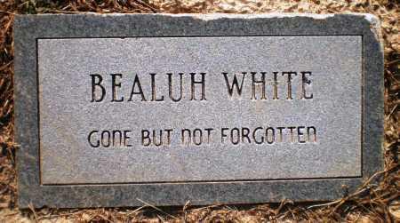 WHITE, BEALUH - Ashley County, Arkansas   BEALUH WHITE - Arkansas Gravestone Photos