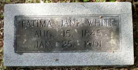 WHITE, FATIMA JANE - Ashley County, Arkansas | FATIMA JANE WHITE - Arkansas Gravestone Photos