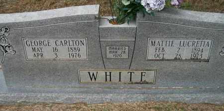 WHITE, MATTIE LUCRETIA - Ashley County, Arkansas | MATTIE LUCRETIA WHITE - Arkansas Gravestone Photos