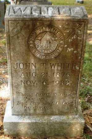 WHITE, JOHN T - Ashley County, Arkansas   JOHN T WHITE - Arkansas Gravestone Photos