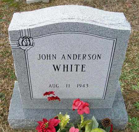 WHITE, JOHN ANDERSON - Ashley County, Arkansas   JOHN ANDERSON WHITE - Arkansas Gravestone Photos