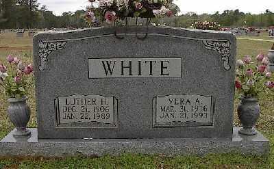 WHITE, LUTHER H. - Ashley County, Arkansas | LUTHER H. WHITE - Arkansas Gravestone Photos