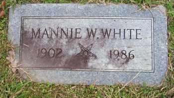 WHITE, MANNIE W - Ashley County, Arkansas | MANNIE W WHITE - Arkansas Gravestone Photos