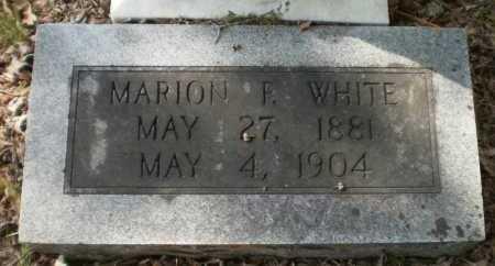 WHITE, MARION F - Ashley County, Arkansas   MARION F WHITE - Arkansas Gravestone Photos