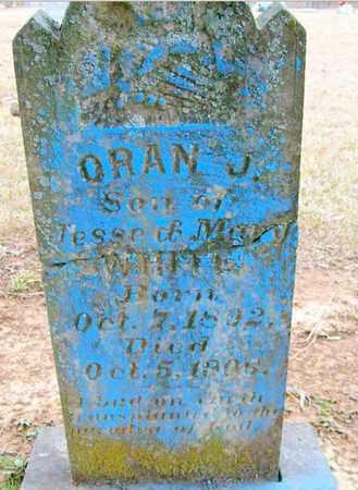 WHITE, ORAN J - Ashley County, Arkansas   ORAN J WHITE - Arkansas Gravestone Photos