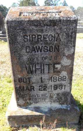 WHITE, SIPRECIA - Ashley County, Arkansas   SIPRECIA WHITE - Arkansas Gravestone Photos