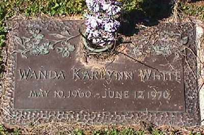 WHITE, WANDA KARLYNN - Ashley County, Arkansas | WANDA KARLYNN WHITE - Arkansas Gravestone Photos