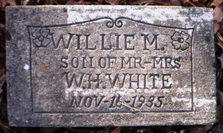 WHITE, WILLIE M - Ashley County, Arkansas   WILLIE M WHITE - Arkansas Gravestone Photos