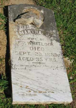 WHITLOCK, MARTHA J. - Ashley County, Arkansas   MARTHA J. WHITLOCK - Arkansas Gravestone Photos
