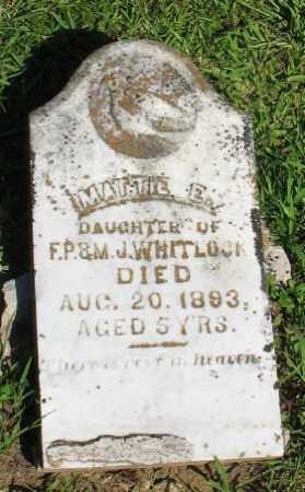 WHITLOCK, MATTIE E. - Ashley County, Arkansas   MATTIE E. WHITLOCK - Arkansas Gravestone Photos