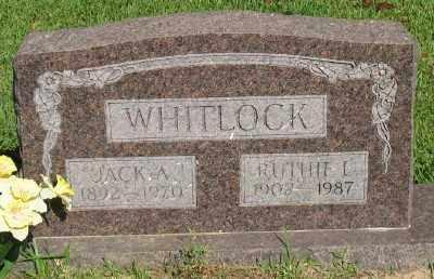 WHITLOCK SR., JACK A. - Ashley County, Arkansas | JACK A. WHITLOCK SR. - Arkansas Gravestone Photos