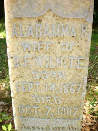 WILHITE, ALABAMMA R (CLOSE UP) - Ashley County, Arkansas   ALABAMMA R (CLOSE UP) WILHITE - Arkansas Gravestone Photos