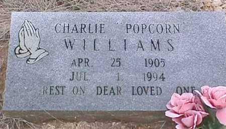 "WILLIAMS, CHARLIE ""POPCORN"" - Ashley County, Arkansas   CHARLIE ""POPCORN"" WILLIAMS - Arkansas Gravestone Photos"
