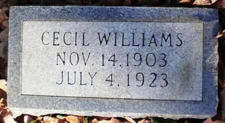 WILLIAMS, CECIL - Ashley County, Arkansas | CECIL WILLIAMS - Arkansas Gravestone Photos