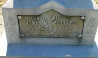 WILLIAMS, EVA F - Ashley County, Arkansas | EVA F WILLIAMS - Arkansas Gravestone Photos