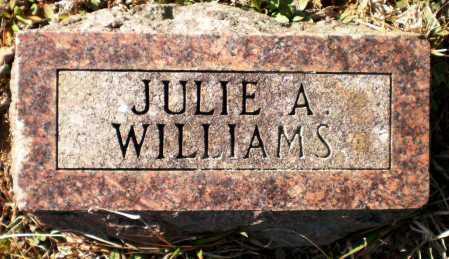 WILLIAMS, JULIE A - Ashley County, Arkansas | JULIE A WILLIAMS - Arkansas Gravestone Photos