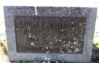 WILLIAMS, LOUIA C - Ashley County, Arkansas | LOUIA C WILLIAMS - Arkansas Gravestone Photos