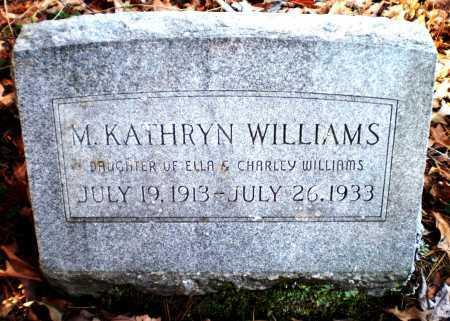 WILLIAMS, M KATHRYN - Ashley County, Arkansas | M KATHRYN WILLIAMS - Arkansas Gravestone Photos