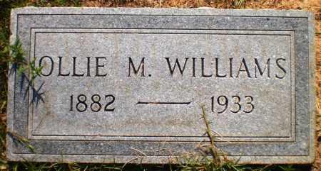 WILLIAMS, OLLIE M - Ashley County, Arkansas   OLLIE M WILLIAMS - Arkansas Gravestone Photos