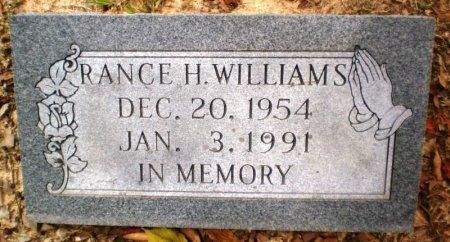 WILLIAMS, RANCE H. - Ashley County, Arkansas | RANCE H. WILLIAMS - Arkansas Gravestone Photos